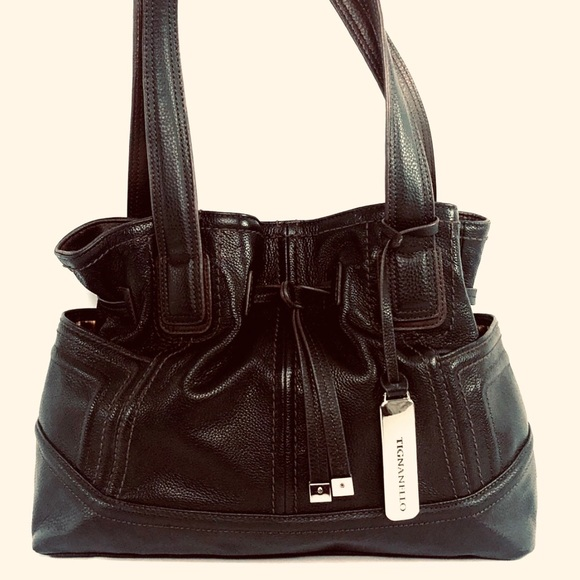 Tignanello Handbags - 👛2/$50Tignanello Draw String Leather Shoulder Bag